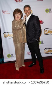 Patrika Darbo and Kevin Spirtas arrive at the 10th Annual Indie Series Awards at The Colony Theatre in Burbank, CA on April 3, 2019.