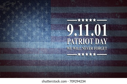 Patriot Day of USA background on american flag