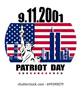 Patriot day we will never forget September 11, 2001, 9/11, greeting card