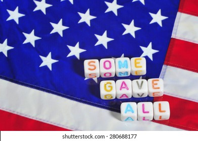 Patriot Term with United States Flag - Some Gave All