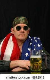 Patriotic American Biker