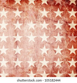 Patriotic Background - Stars on Red