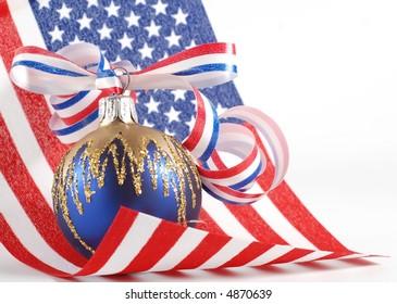 patriotic Christmas theme