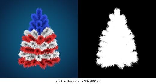 Patriotic Christmas Tree of America/USA