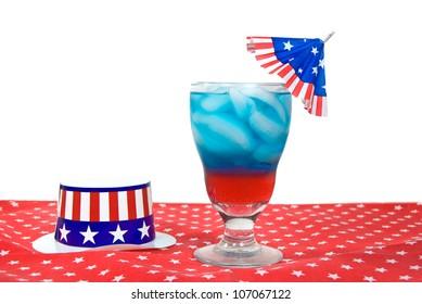 patriotic drink with hat