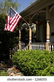 A patriotic looking home.