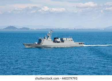 Patrol vessel in the gulf of Thailand
