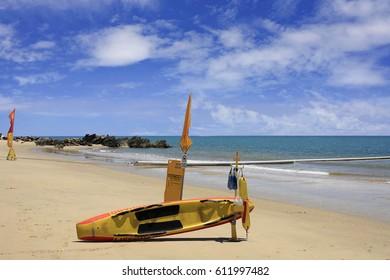 patrolled beach at Yorkeys Knob Cairns Australia