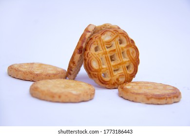 patron biscuit  with white background close up