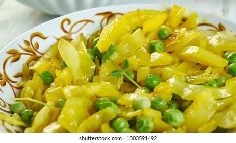 Patta Gobhi Aloo Sabji of cabbage, north indian style