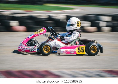 PATTATA,THAILAND-MAY 20: Go Kart  driving training in Peera circuit race pattaya on MAY 20,2018 IN THAILAND.