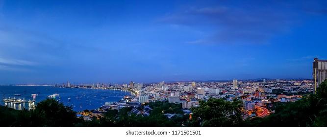 Pattaya bay twilight