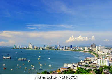 Pattaya Beach,Thailand,View from the top.