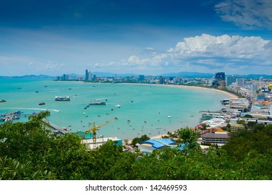Pattaya city bird eye view, Thailand