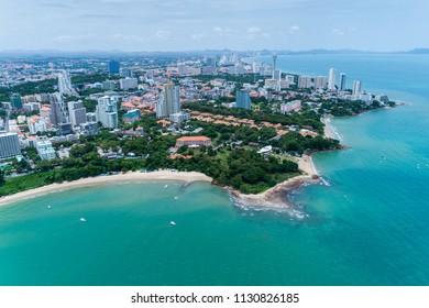 Pattaya city top view.