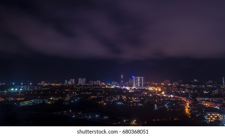 Pattaya city at twiilight time. city scape.