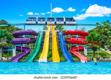 Pattaya Park water park at Pattaya Park Hotel Pattaya : on Nov 18,2018 Pattaya ,Chonburi,Thailand