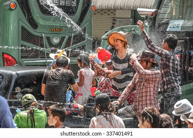 PATTAYA, THAILAND - APRIL 18, 2013: Songkran Festival in Thailand