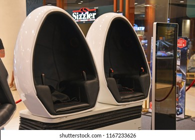Pattaya, Thailand – August 19, 2018: the 3D VR Movie with The Motion Chair is the new entertaining activities.