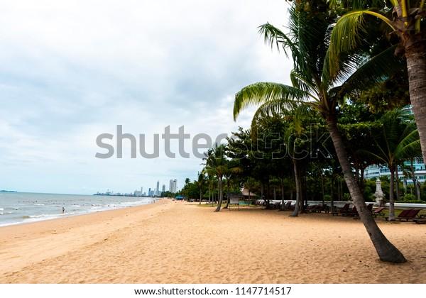 Pattaya, Thailand - August 2, 2018 : Pattaya beach in Thialand