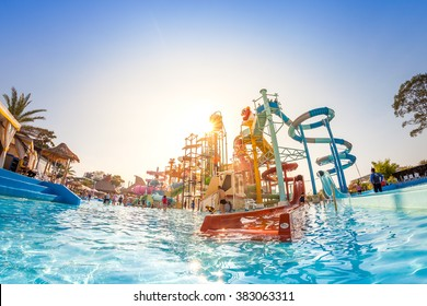 PATTAYA, THAILAND - DEC 27, 2015: Cartoon Network Amazone Water Park, New recreation in Pattaya on December 27, 2015 in Pattaya Thailand. Park create from cartoon character on Cartoon Network channel