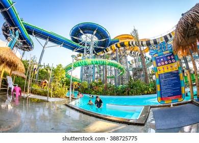 PATTAYA, THAILAND - DEC 27, 2015: Cartoon Network Amazone Water Park, New recreation in Pattaya on December 27, 2015 in Pattaya Thailand. Park create from cartoon character on Cartoon Network channel