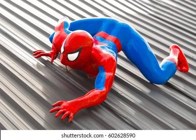Pattaya, Thailand - December 31, 2016 : Spider-Man model