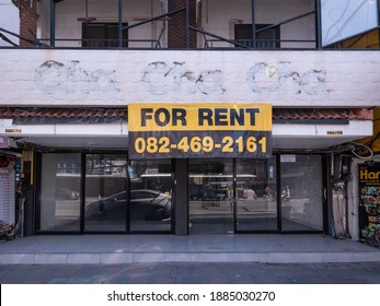Pattaya, Thailand - December 31, 2020: The Covid-19 pandemic has had dire consequences for the resort city Pattaya in Thailand. Many shops have closed, some never to re-open.