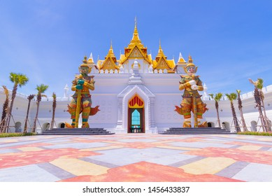 Pattaya, Thailand - July 2019 : Legend Siam in Pattaya is new Thai traditional culture park. Legend Siam is new landmark of civilization center in Pattaya of Thailand