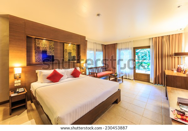 PATTAYA, THAILAND - JUN 14 : Guest room of Sea Sand Sun Hotel on Jun 14, 2014. The hotel consist of 60 boutique-style masterpiece Villas and Rooms, finest collection of Villa in the Pattaya.