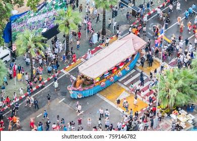 Pattaya , Thailand - Nov 19, 2017 : Parade in Asian international fleet rewview 2017