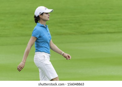 PATTAYA THAILAND-FEBRUARY 21-Lorena Ochoa of Mexico walks in fairway in Final Round