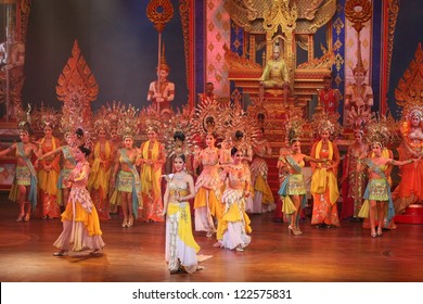 PATTAYA,THAILAND DEC.22:Alcazar Cabaret Show on December 22, 2012,  in Pattaya, Thailand. More then 2500 visitors attended it daily