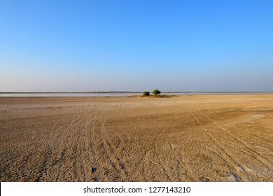 Patten of dry Ground in Little Rann of Kutch, Gujarat, India