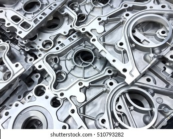 Pattern of aluminum automotive parts cover crank case, casting process in automotive industry factory