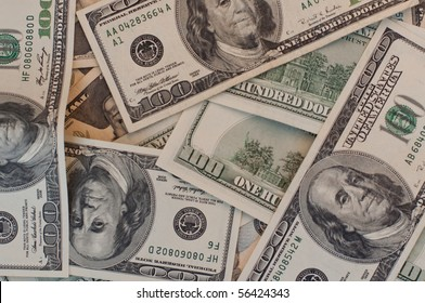 pattern background from one hundred dollar bills
