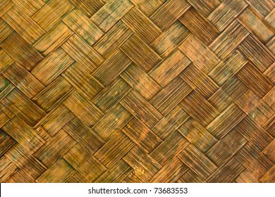 pattern of bamboo panel made from pieces of bamboo