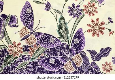 Pattern of beautiful Asean traditional batik