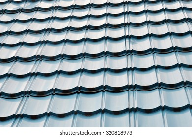 pattern of black roof tiles