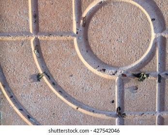Pattern of brick floor texture, dirty stone floor