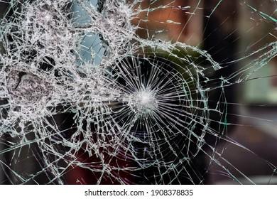 Pattern of broken glass pane