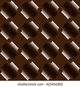 Pattern chocolate on brown background
