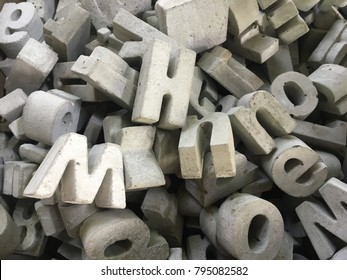 Pattern of concrete alphabet.