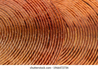 pattern copper wire inductor, selective focus