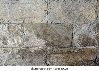 Pattern of decorative slate stone wall surface texture background.