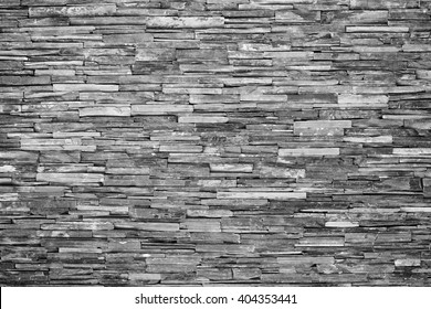 pattern of decorative slate stone wall surface