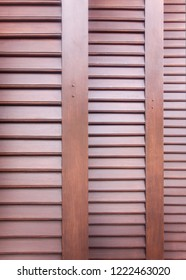 pattern and detail of wooden louver doors.