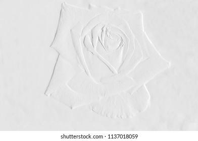 Pattern of embossed flowers