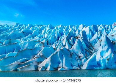 Pattern form by the ice of Glacier Grey at Torres del Paine National Park in Chile