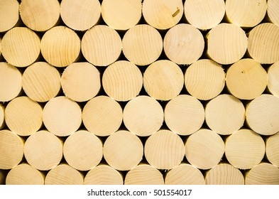 Pattern formed by stacked wooden billets. Delhi, New York.
